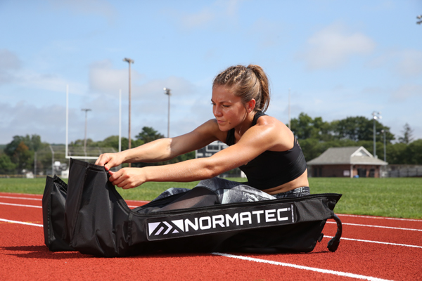 NORMATEC Recovery System is a dynamic compression device designed for recovery and rehabilitation